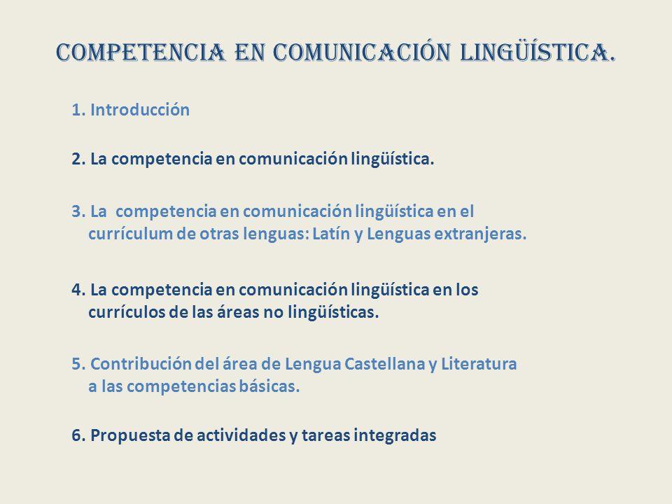 Competencia en comunicación lingüística. 3.