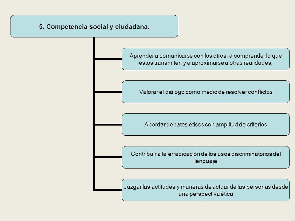 5.Competencia social y ciudadana.