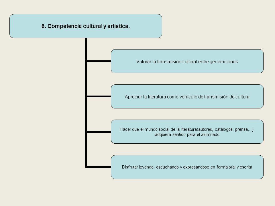 6. Competencia cultural y artística.