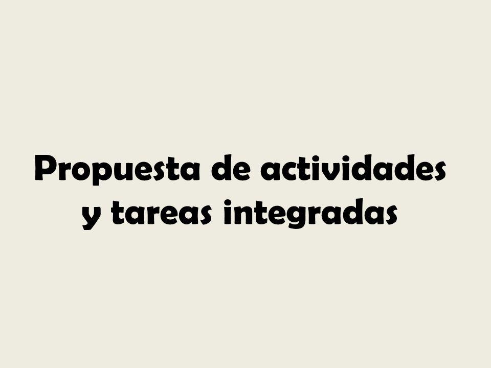 Propuesta de actividades y tareas integradas