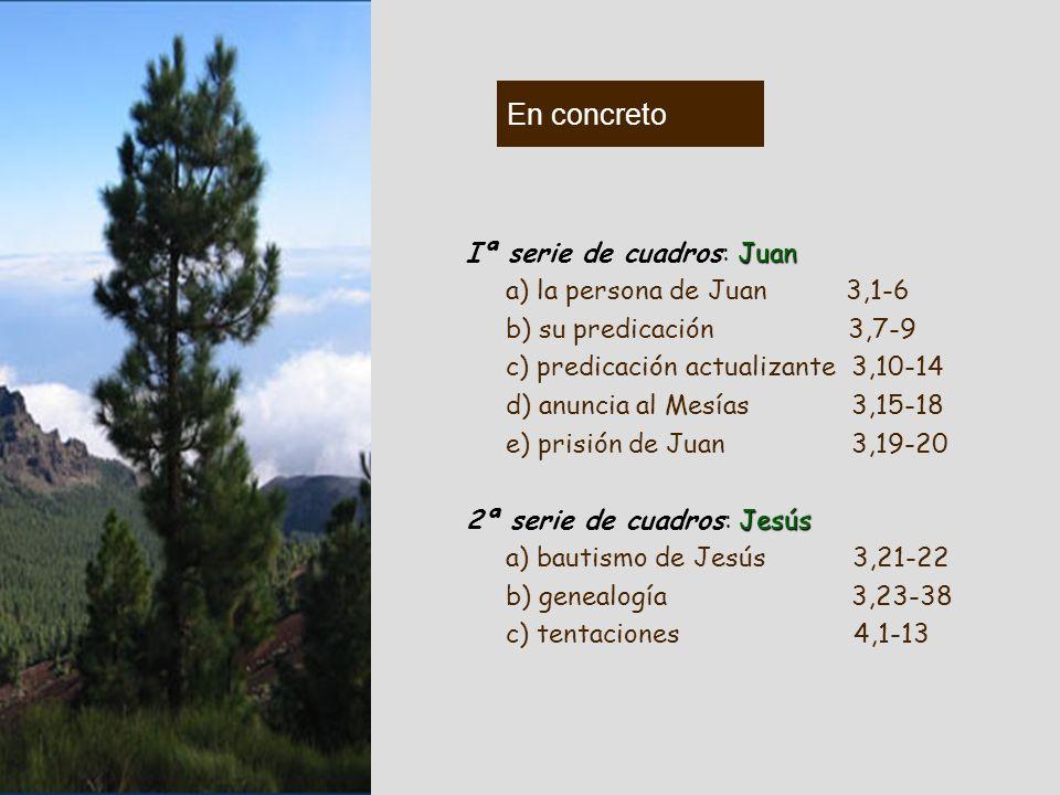 Díptico introductorio: 3,1-4,13 Sirve de nexo entre una etapa del camino que termina, el AT, tiempo de la promesa, tipificado por Juan Bta (1ª serie d