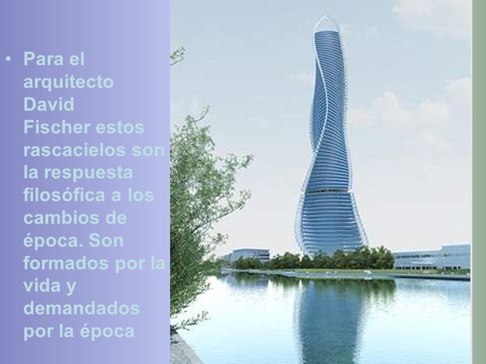 El arquitecto David Fischer concibió un método llamado « El método Fischer » para construir sus torres. Cada piso es montado en una fábrica, que inclu