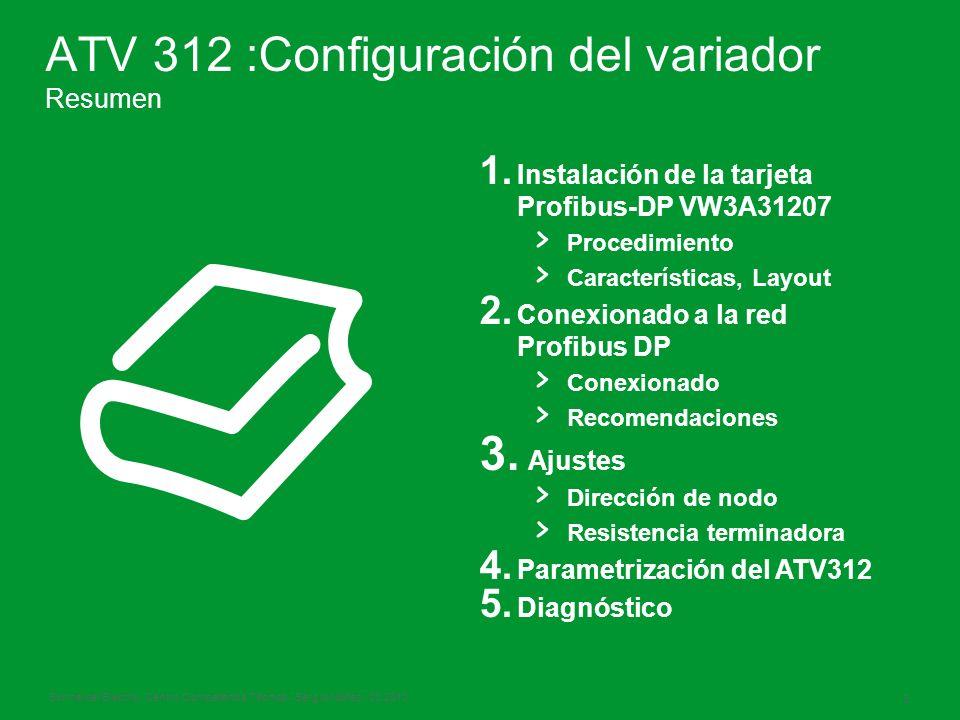 Schneider Electric 3 - Centro Competencia Técnica - Sergio Núñez - 03.2010 ATV 312 :Configuración del variador Resumen 1.