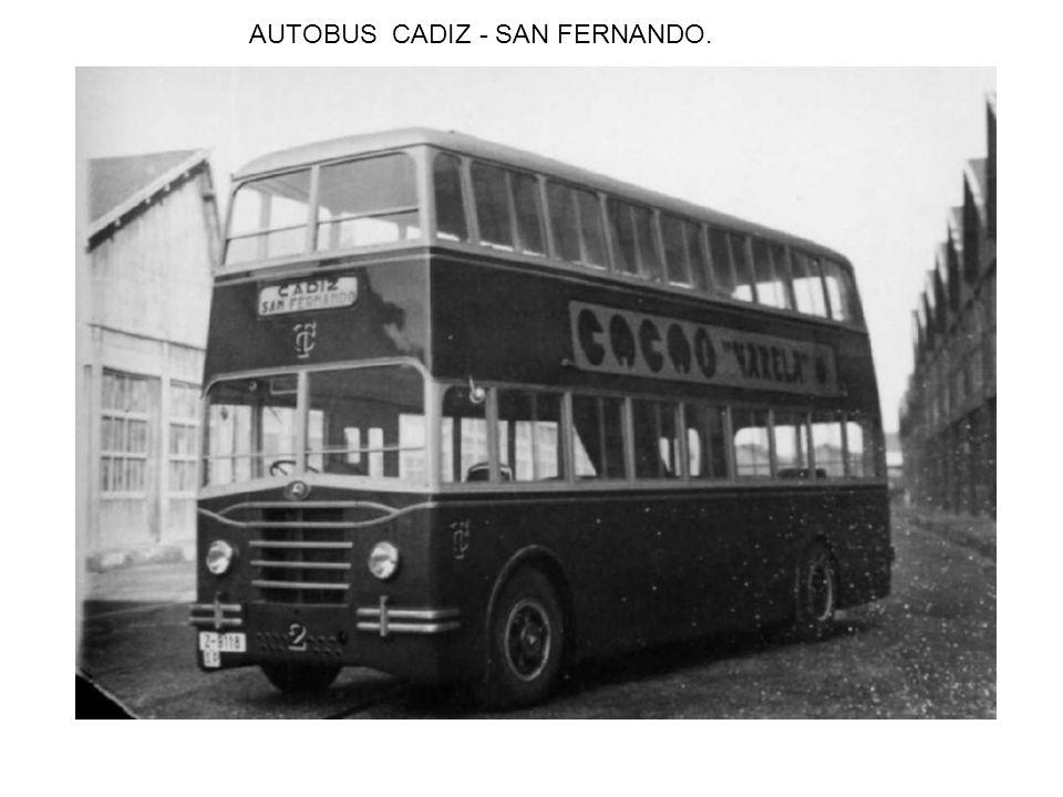 AUTOBUS CADIZ - SAN FERNANDO.