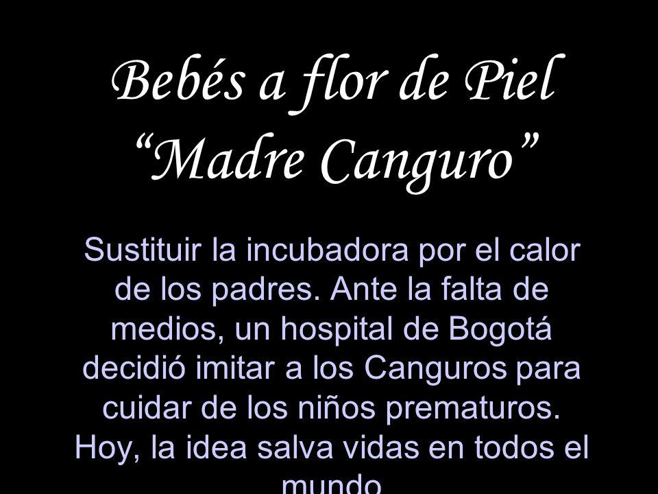 Bebés a flor de Piel Madre Canguro Sustituir la incubadora por el calor de los padres. Ante la falta de medios, un hospital de Bogotá decidió imitar a
