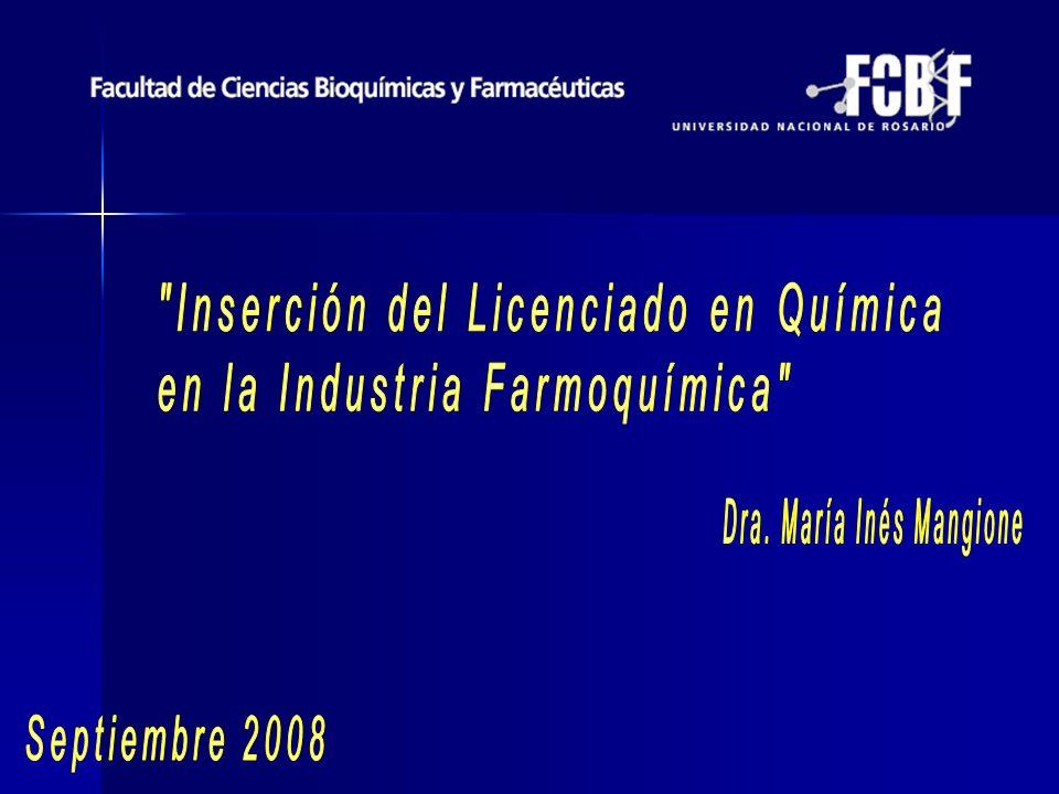 María Inés Mangione Dra.en Ciencias Químicas: marzo de 2006.