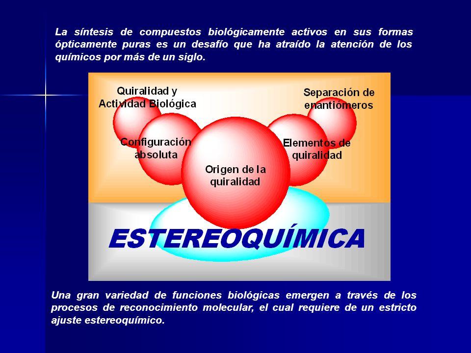 Enzimática Racematos Resolución Cinética Cristalización Diasteroisomérica Química Fuente de Quiralidad Sustratos Proquirales Síntesis Asimétrica Biocatálisis Catálisis Síntesis Compuestos enantioméricamente puros