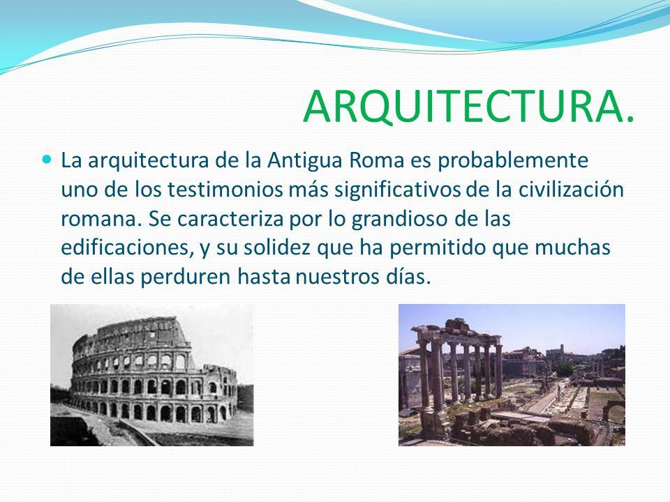 Inicios de la Arquitectura Romana La arquitectura Romana tiene su origen en el año 146 a.C.