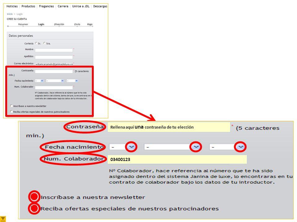 Cómo Registrarse Tienda Online Plantilla: Cómo registrarse en la Tienda Online Versión: 15-01-11 Cree su cuenta Escribe tu email.
