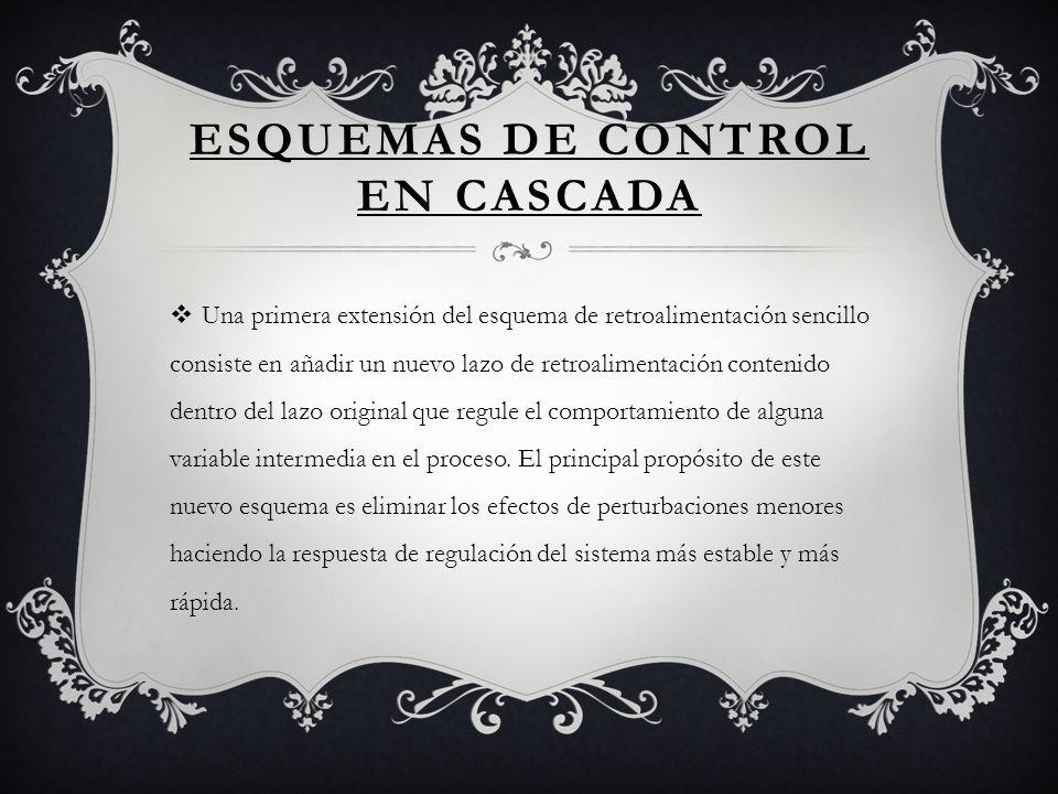 ESQUEMAS DE CONTROL EN CASCADA Una primera extensión del esquema de retroalimentación sencillo consiste en añadir un nuevo lazo de retroalimentación c