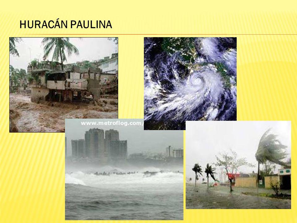 HURACÁN ERIKA El huracán Erika impactó de forma desastrosa el noreste de México en el 2003.