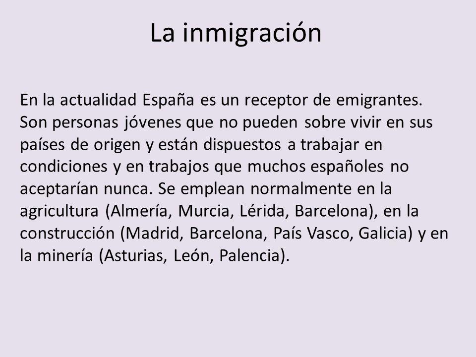¿De dónde son los inmigrantes?