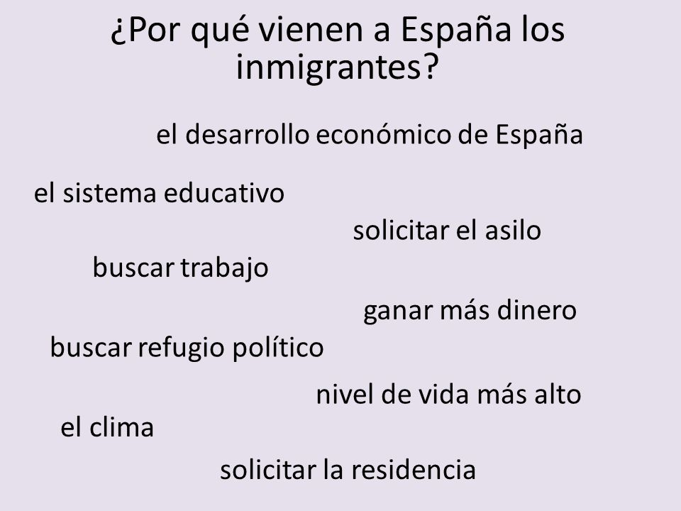 Spanish Podcast – Immigration http://www.notesinspanish.com/category/intermediate-spanish-podcast/ http://sauce.pntic.mec.es/jotero/Inmigra/Cuantos.htm http://www.elpais.com/todo-sobre/tema/inmigracion/Espana/27/ Sitios utiles