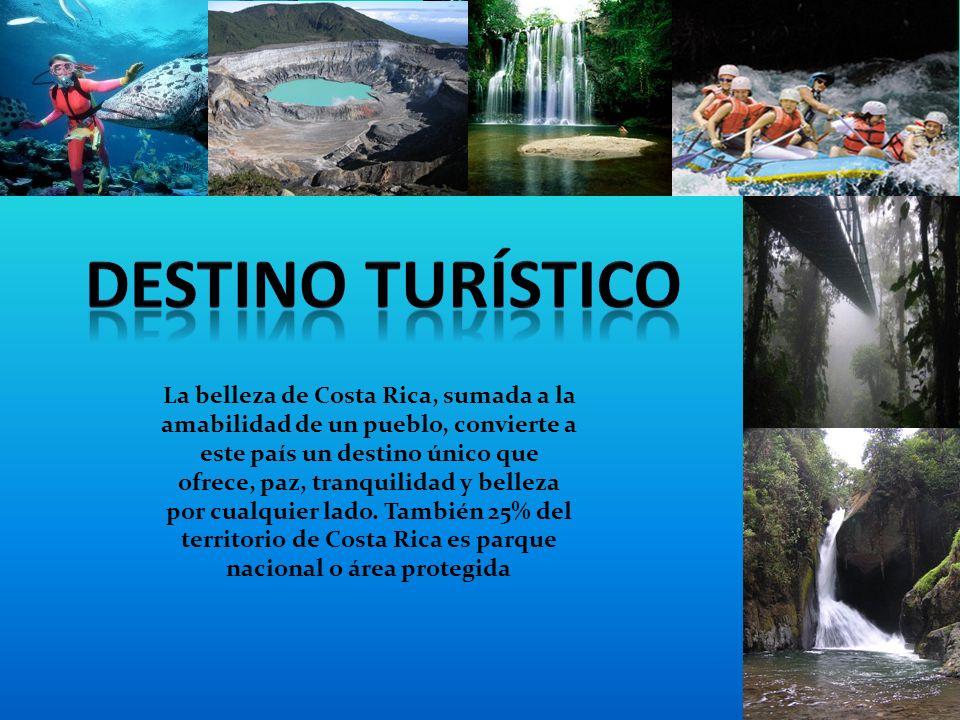 La belleza de Costa Rica, sumada a la amabilidad de un pueblo, convierte a este país un destino único que ofrece, paz, tranquilidad y belleza por cualquier lado.