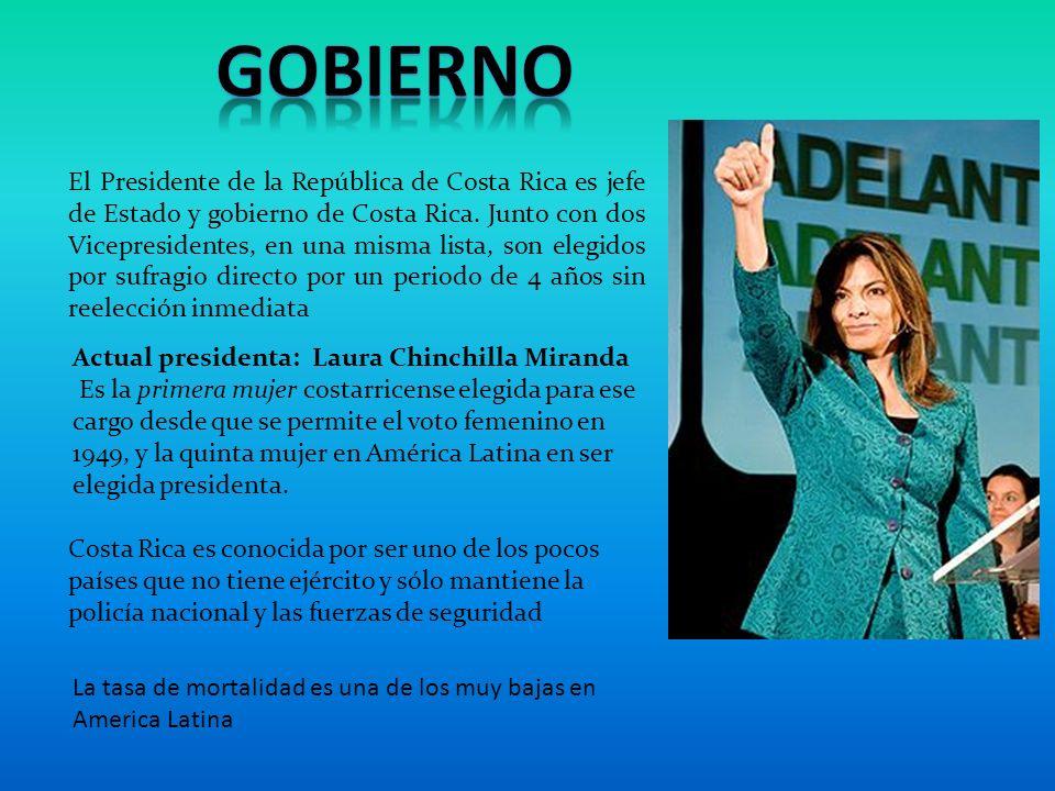 El Presidente de la República de Costa Rica es jefe de Estado y gobierno de Costa Rica.