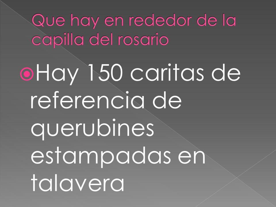 Hay 150 caritas de referencia de querubines estampadas en talavera