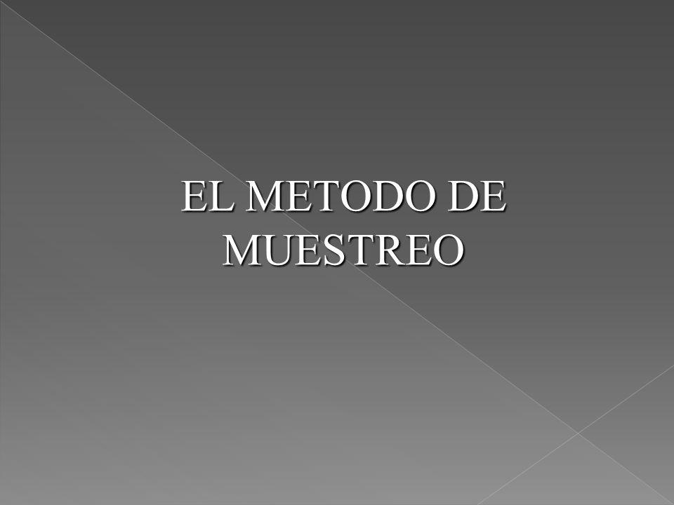 EL METODO DE MUESTREO