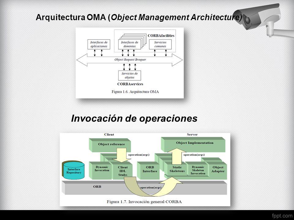 Arquitectura OMA (Object Management Architecture) Invocación de operaciones