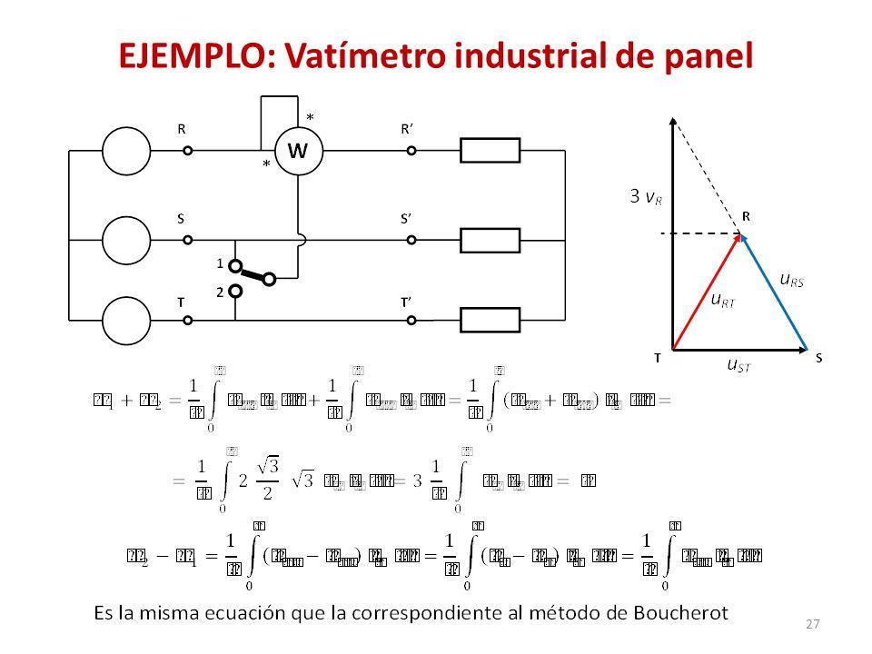 EJEMPLO: Vatímetro industrial de panel 27
