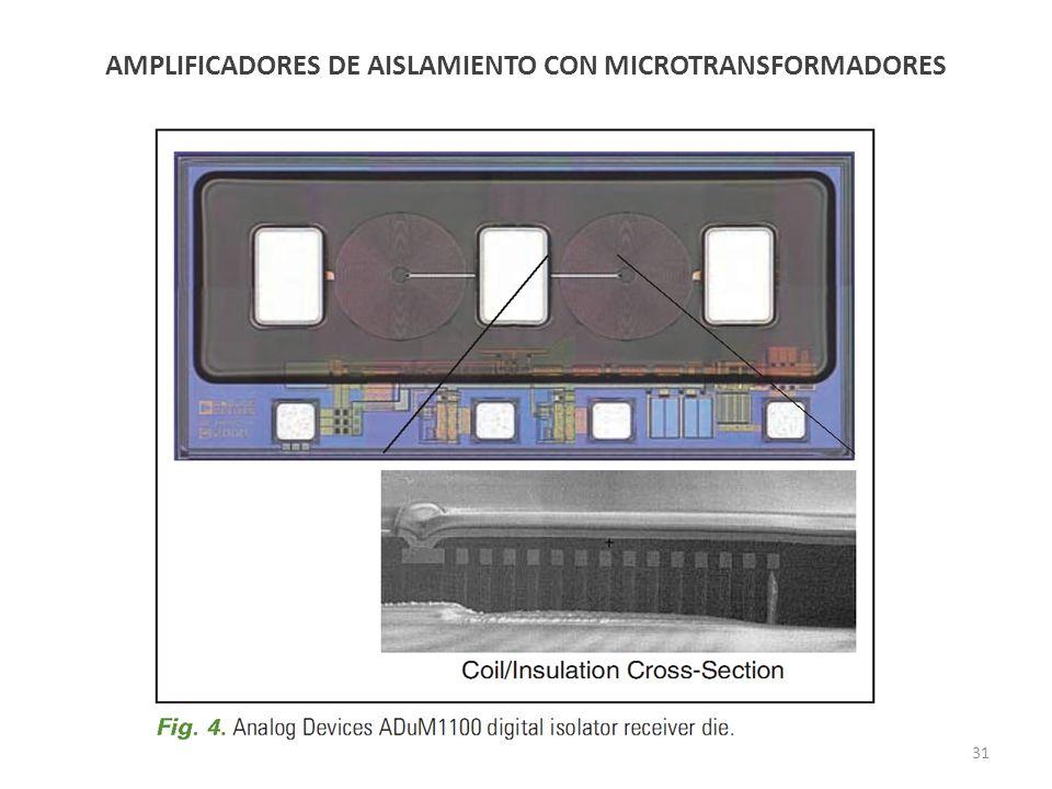 AMPLIFICADORES DE AISLAMIENTO CON MICROTRANSFORMADORES 31