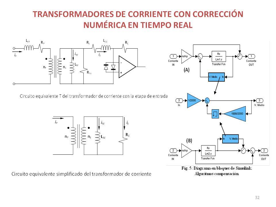 TRANSFORMADORES DE CORRIENTE CON CORRECCIÓN NUMÉRICA EN TIEMPO REAL 32