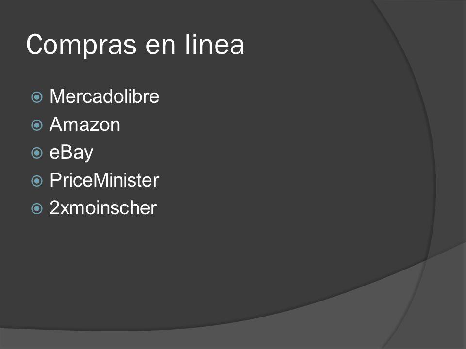 Compras en linea Mercadolibre Amazon eBay PriceMinister 2xmoinscher