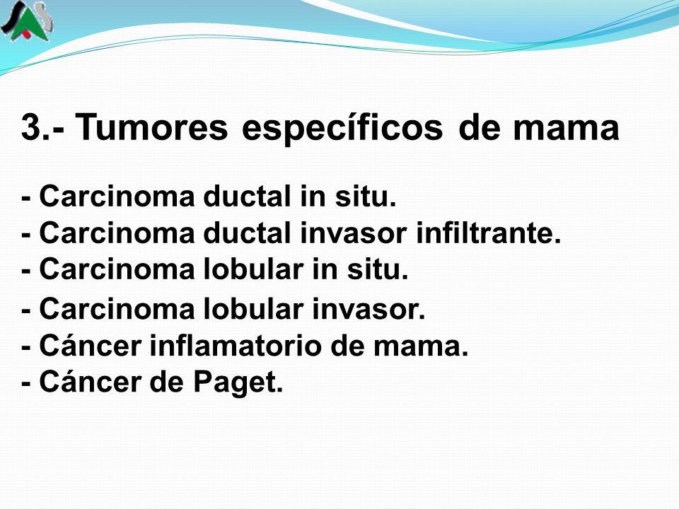 3.- Tumores específicos de mama - Carcinoma ductal in situ.