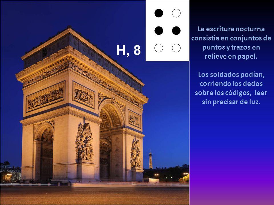 www.vitanoblepowerpoints.net La escritura nocturna consistia en conjuntos de puntos y trazos en relieve en papel.
