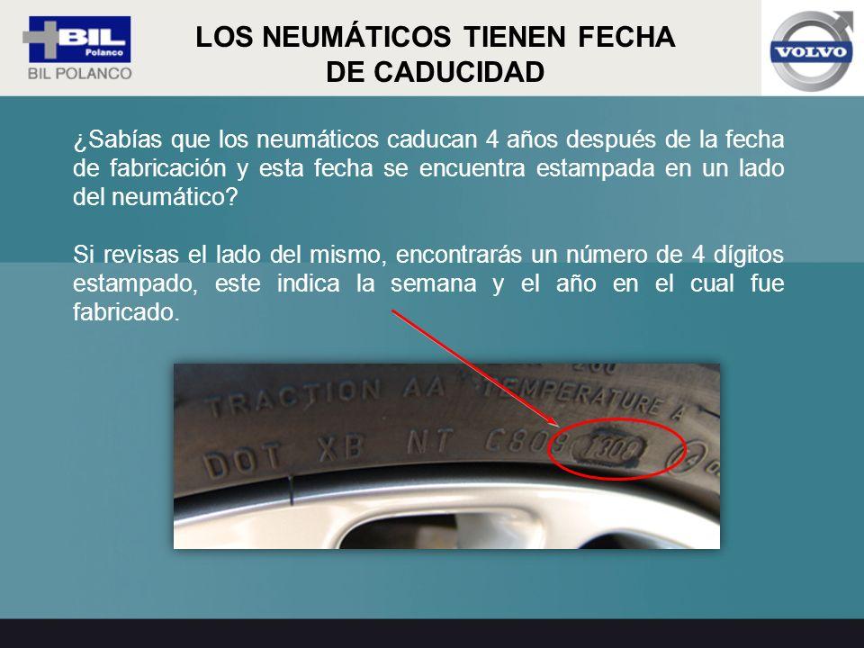 ¿Sabías que los neumáticos caducan 4 años después de la fecha de fabricación y esta fecha se encuentra estampada en un lado del neumático? Si revisas