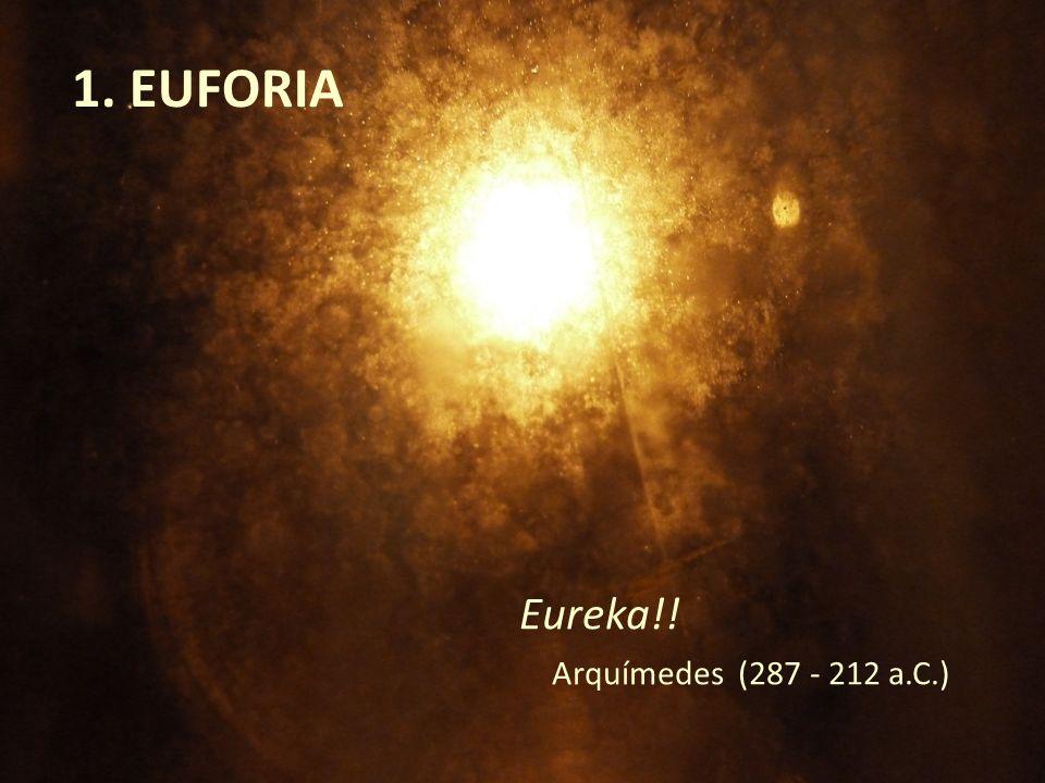 1. EUFORIA Eureka!! Arquímedes (287 - 212 a.C.)