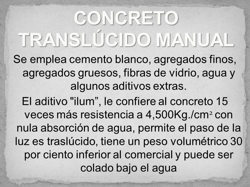 Es un concreto más estético que el convencional, permite el ahorro de materiales de acabado, como yeso, pintura y posee la misma utilidad. representa