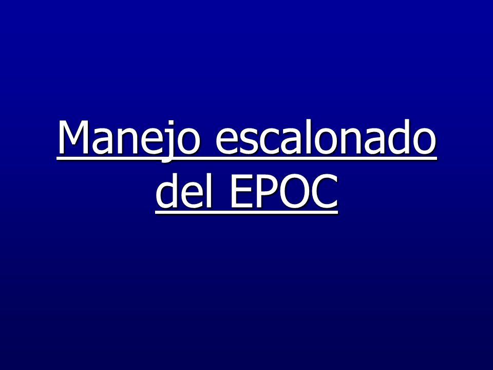 Manejo escalonado del EPOC