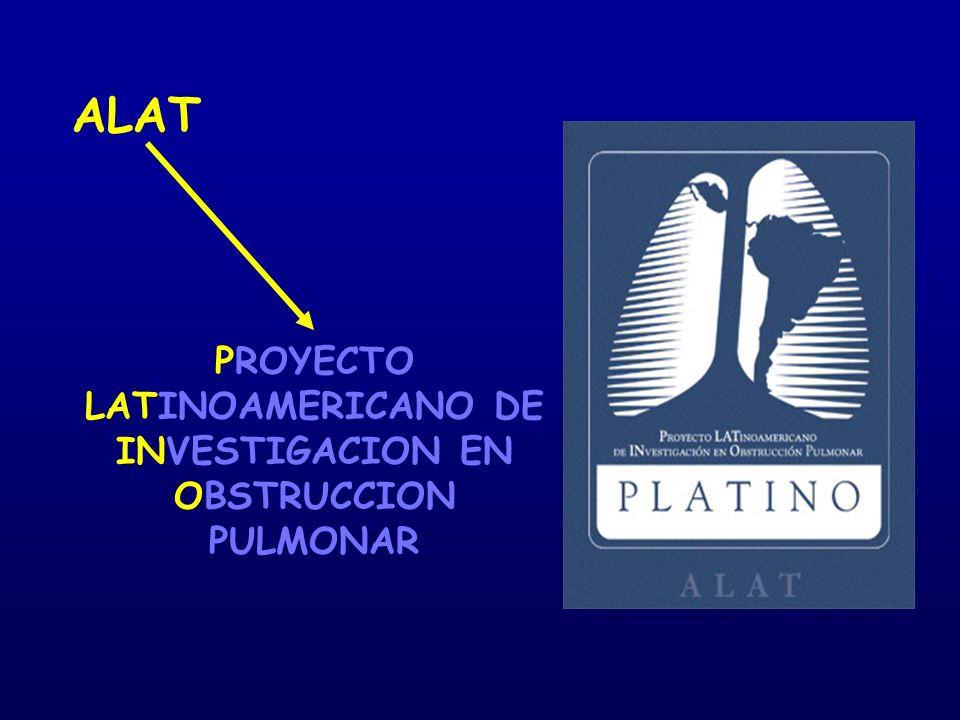 PROYECTO LATINOAMERICANO DE INVESTIGACION EN OBSTRUCCION PULMONAR ALAT