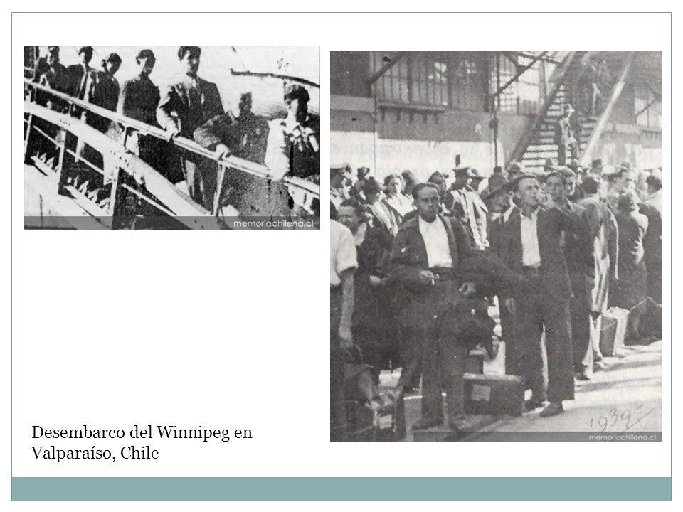 Desembarco del Winnipeg en Valparaíso, Chile