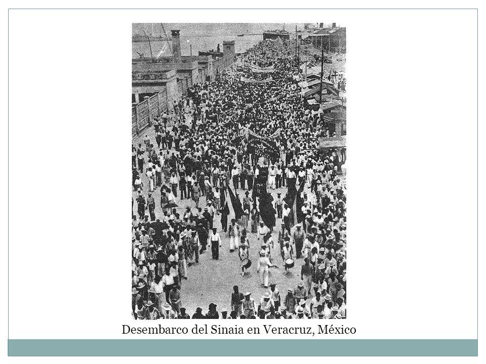 Desembarco del Sinaia en Veracruz, México