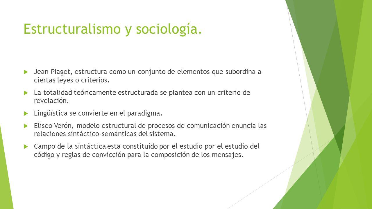 Estructuralismo y sociología.