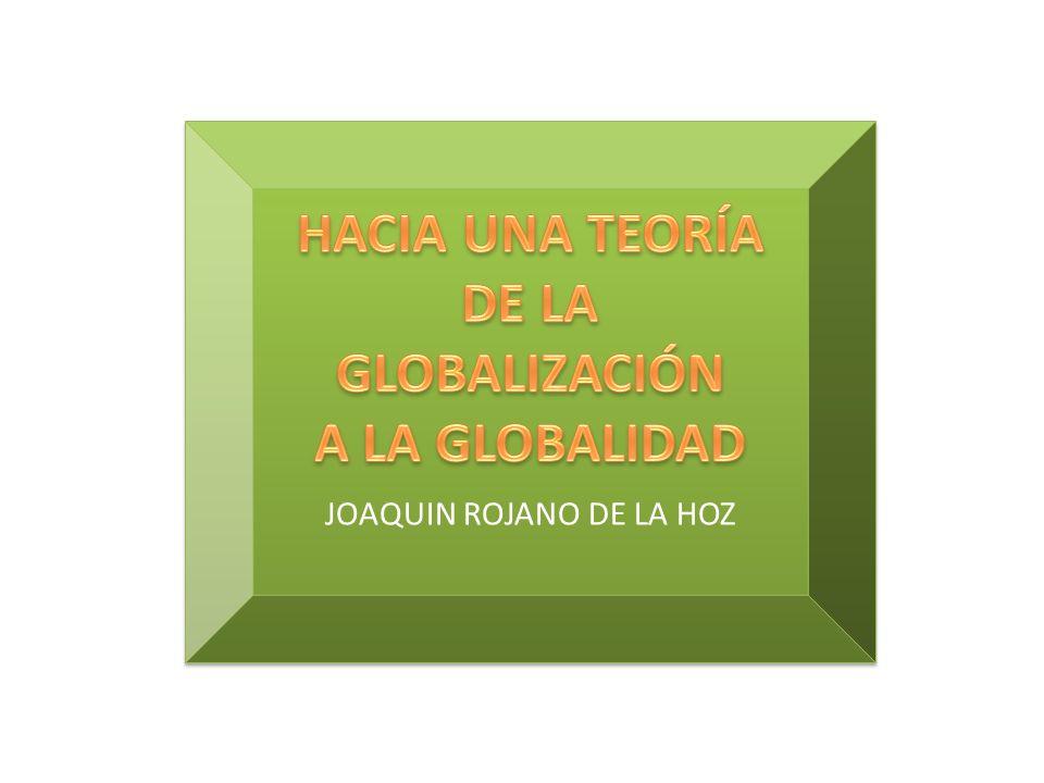 IMPACTO DE LA GLOBALIZACIÓN EN LA CULTURA Y EL AMBIENTE Joaquín Rojano De la Hoz. Sociólogo. Magister en Proyectos de Desarrollo Social. Docente Unive