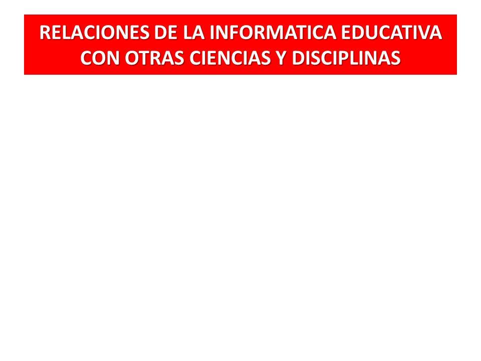 RELACIONES DE LA INFORMATICA EDUCATIVA CON OTRAS CIENCIAS Y DISCIPLINAS