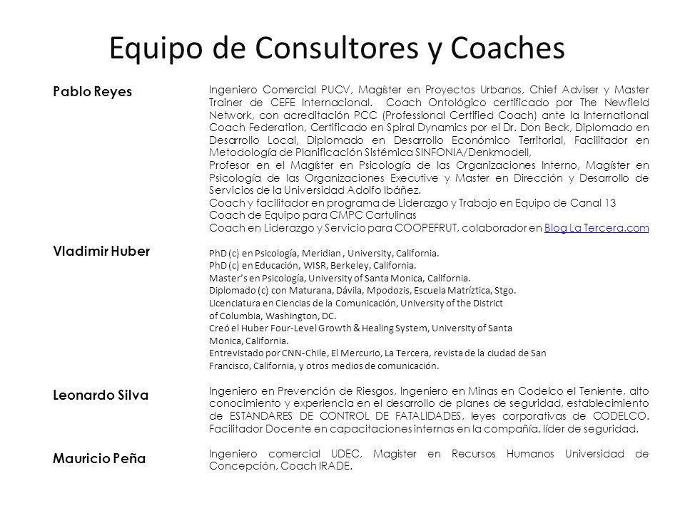 Pablo Reyes Vladimir Huber Leonardo Silva Mauricio Peña Ingeniero Comercial PUCV, Magíster en Proyectos Urbanos, Chief Adviser y Master Trainer de CEF