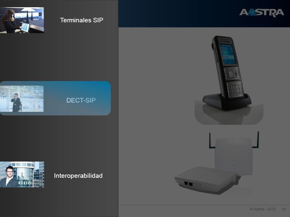 © Aastra - 2012 10 Terminales SIP Interoperabilidad DECT-SIP