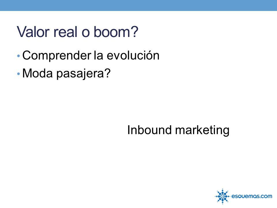 Valor real o boom? Comprender la evolución Moda pasajera? Inbound marketing