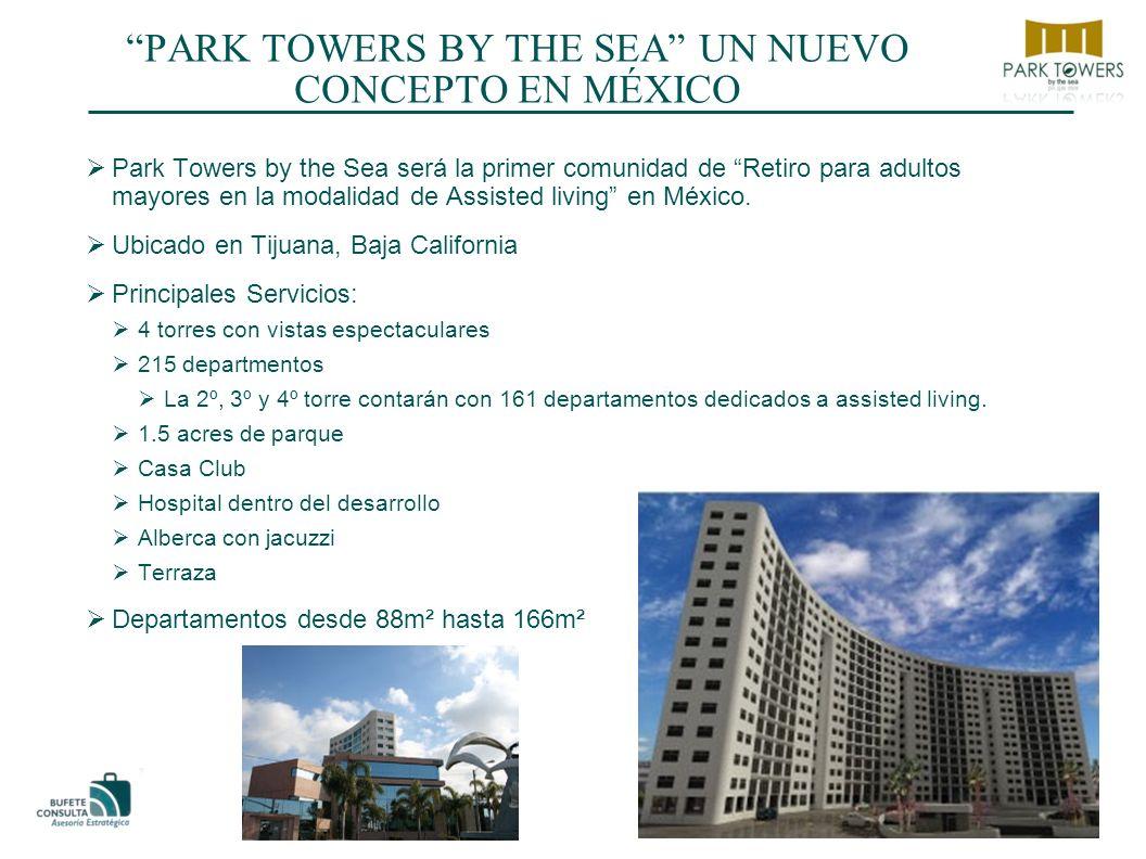 PARK TOWERS BY THE SEA UN NUEVO CONCEPTO EN MÉXICO Park Towers by the Sea será la primer comunidad de Retiro para adultos mayores en la modalidad de Assisted living en México.