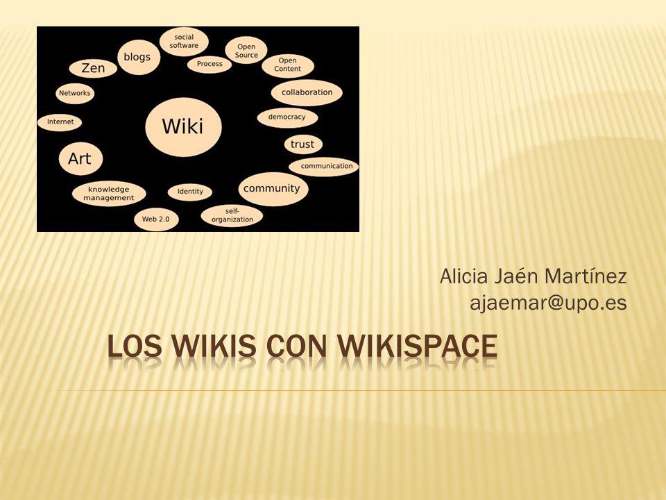 Cada wikiespacio puede contener varias páginas.