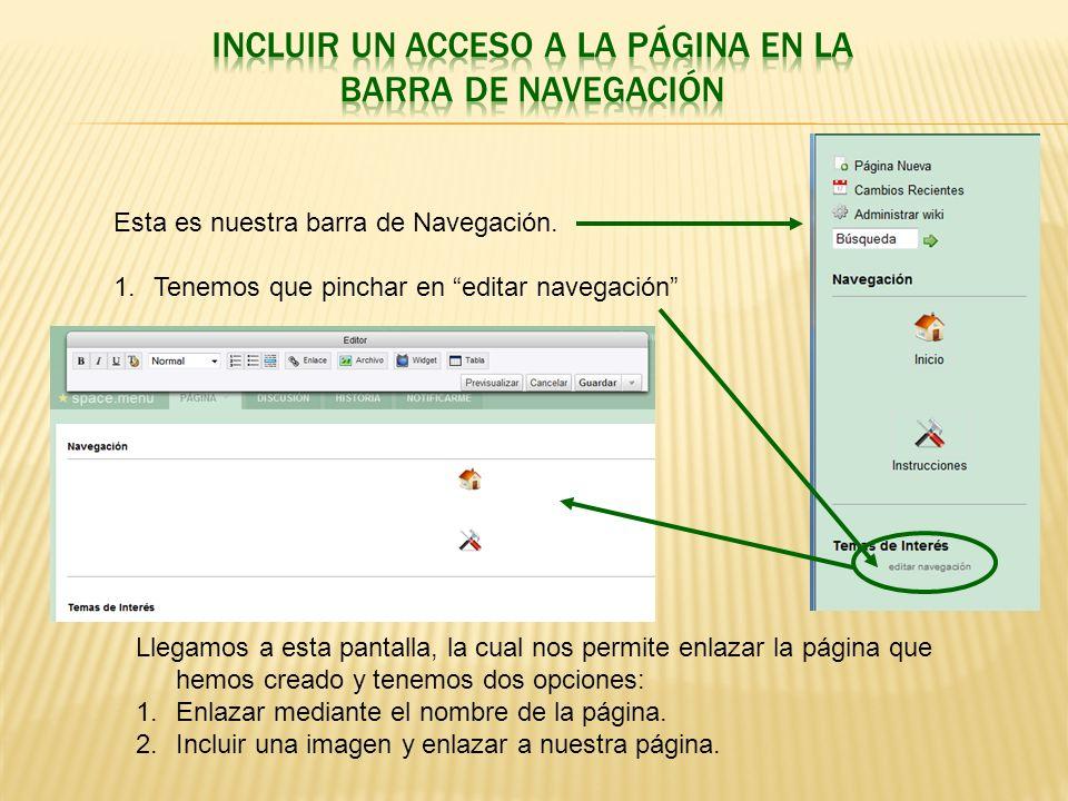 1.ENLAZAR CON EL NOMBRE DE NUESTRA PÁGINA.
