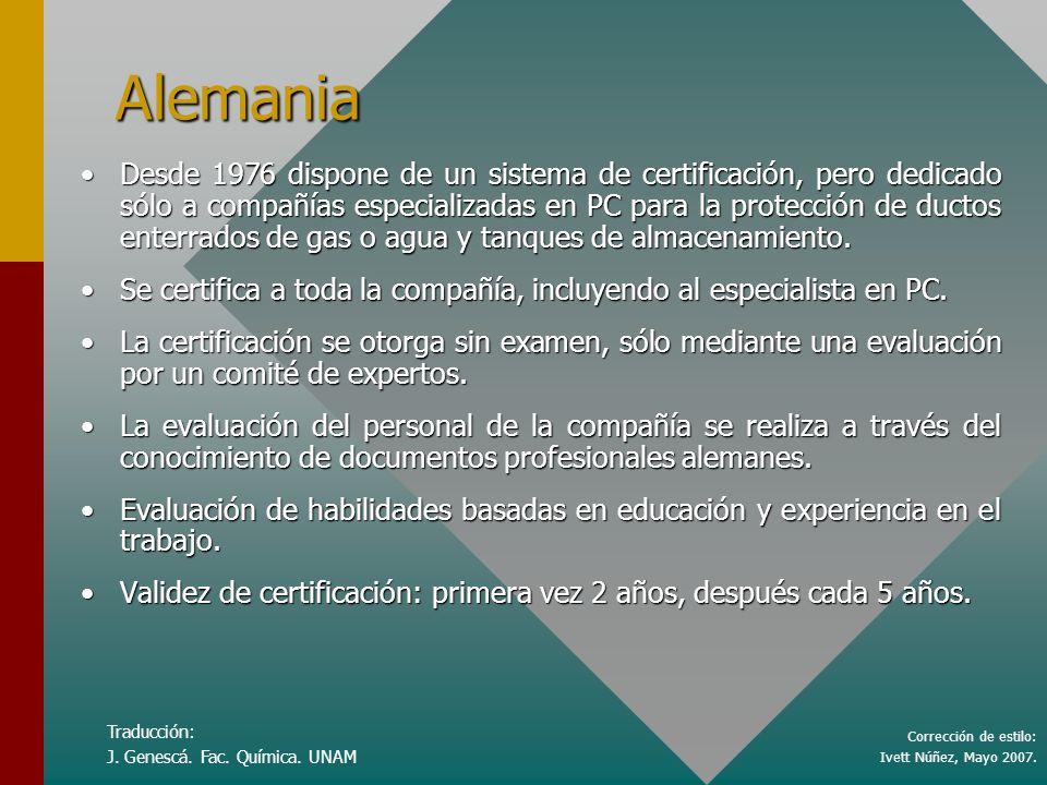 Corrección de estilo: Ivett Núñez, Mayo 2007. Traducción: J.