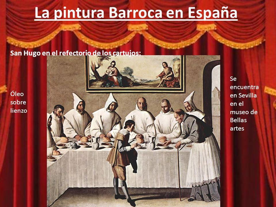 La pintura Barroca en España Leyenda: – Dios convierte la carne,mandada a los cartujos por el obispo de Grenoble, en cenizas.