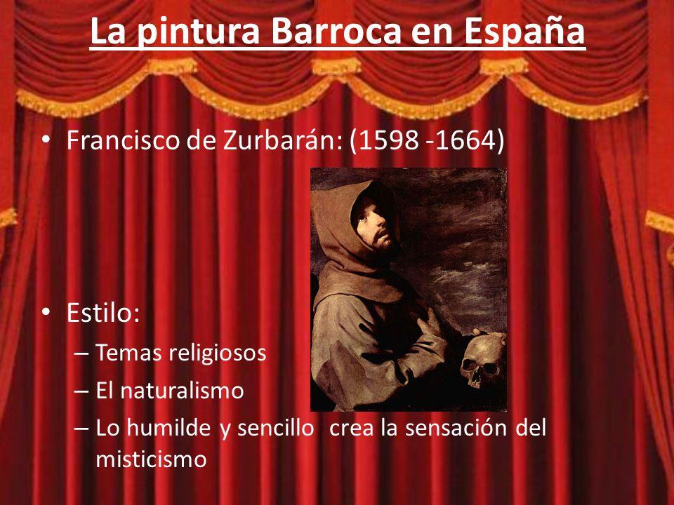 La pintura Barroca en España Firma el primer tratado de pintura en 1626 con una orden religiosa.