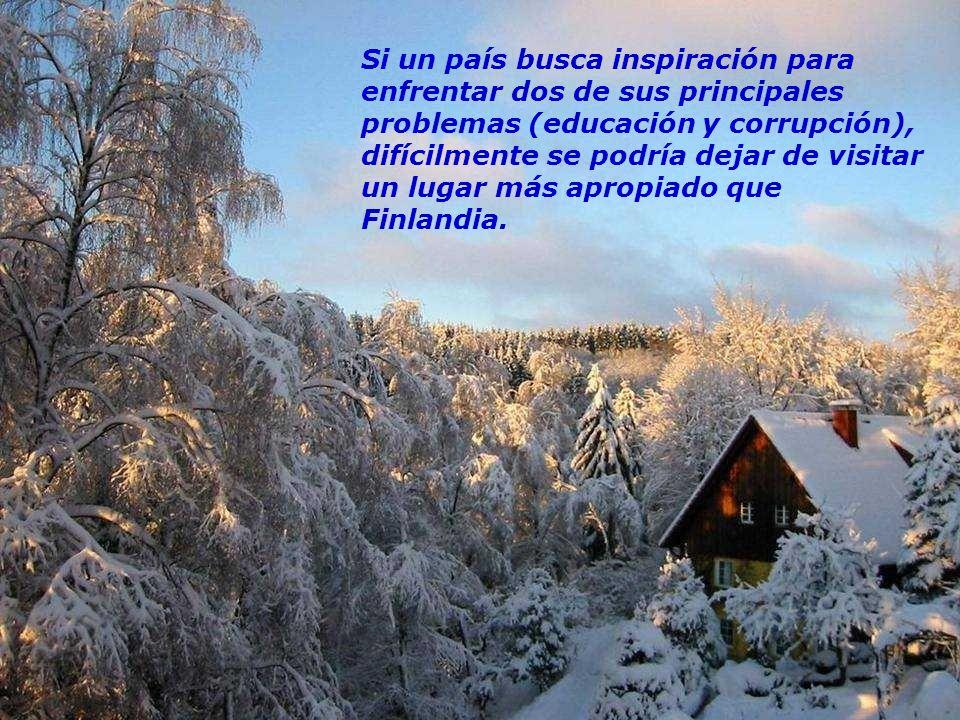 Finlandia no tiene muchos recursos naturales. El himno nacional dice:...somos un país pobre, que no tiene oro. El recurso que tenemos es nuestro puebl