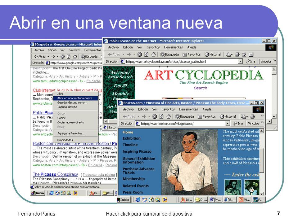 Fernando PariasHacer click para cambiar de diapositiva 7 Abrir en una ventana nueva