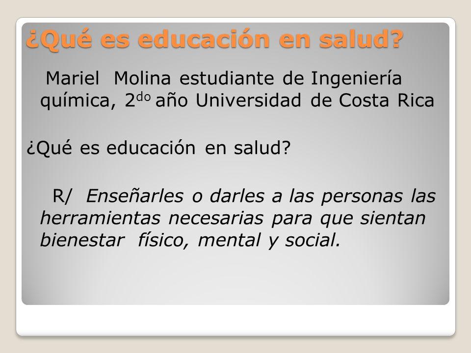 ¿Qué es educación en salud.